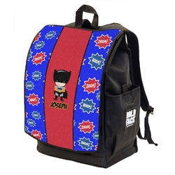 Superhero Backpack w/ Front Flap  (Personalized)