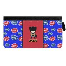 Superhero Genuine Leather Ladies Zippered Wallet (Personalized)