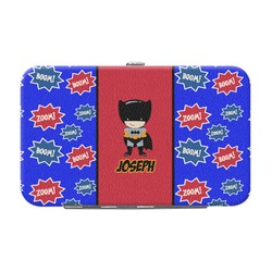 Superhero Genuine Leather Small Framed Wallet (Personalized)