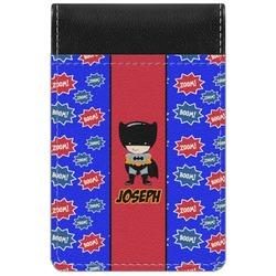 Superhero Genuine Leather Small Memo Pad (Personalized)
