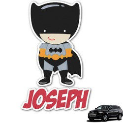 Superhero Graphic Car Decal (Personalized)