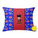 Superhero Outdoor Throw Pillow (Rectangular) (Personalized)