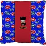 Superhero Faux-Linen Throw Pillow (Personalized)