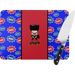 Superhero Rectangular Glass Cutting Board (Personalized)