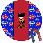 Superhero Round Magnet (Personalized)