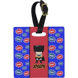 Superhero Square Luggage Tag (Personalized)