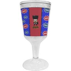 Superhero Wine Tumbler - 11 oz Plastic (Personalized)