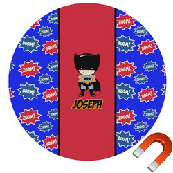 Superhero Round Car Magnet (Personalized)