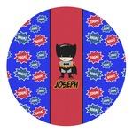 Superhero Round Decal - Custom Size (Personalized)