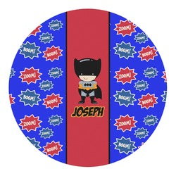Superhero Round Decal - Small (Personalized)