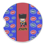 Superhero Sandstone Car Coasters (Personalized)