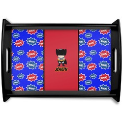 Superhero Black Wooden Tray (Personalized)