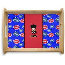 Superhero Natural Wooden Tray - Large (Personalized)