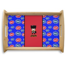 Superhero Natural Wooden Tray (Personalized)