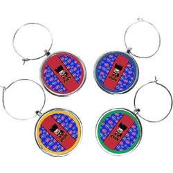 Superhero Wine Charms (Set of 4) (Personalized)