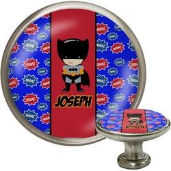 Superhero Cabinet Knob (Silver) (Personalized)