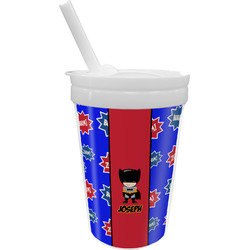 Superhero Sippy Cup with Straw (Personalized)