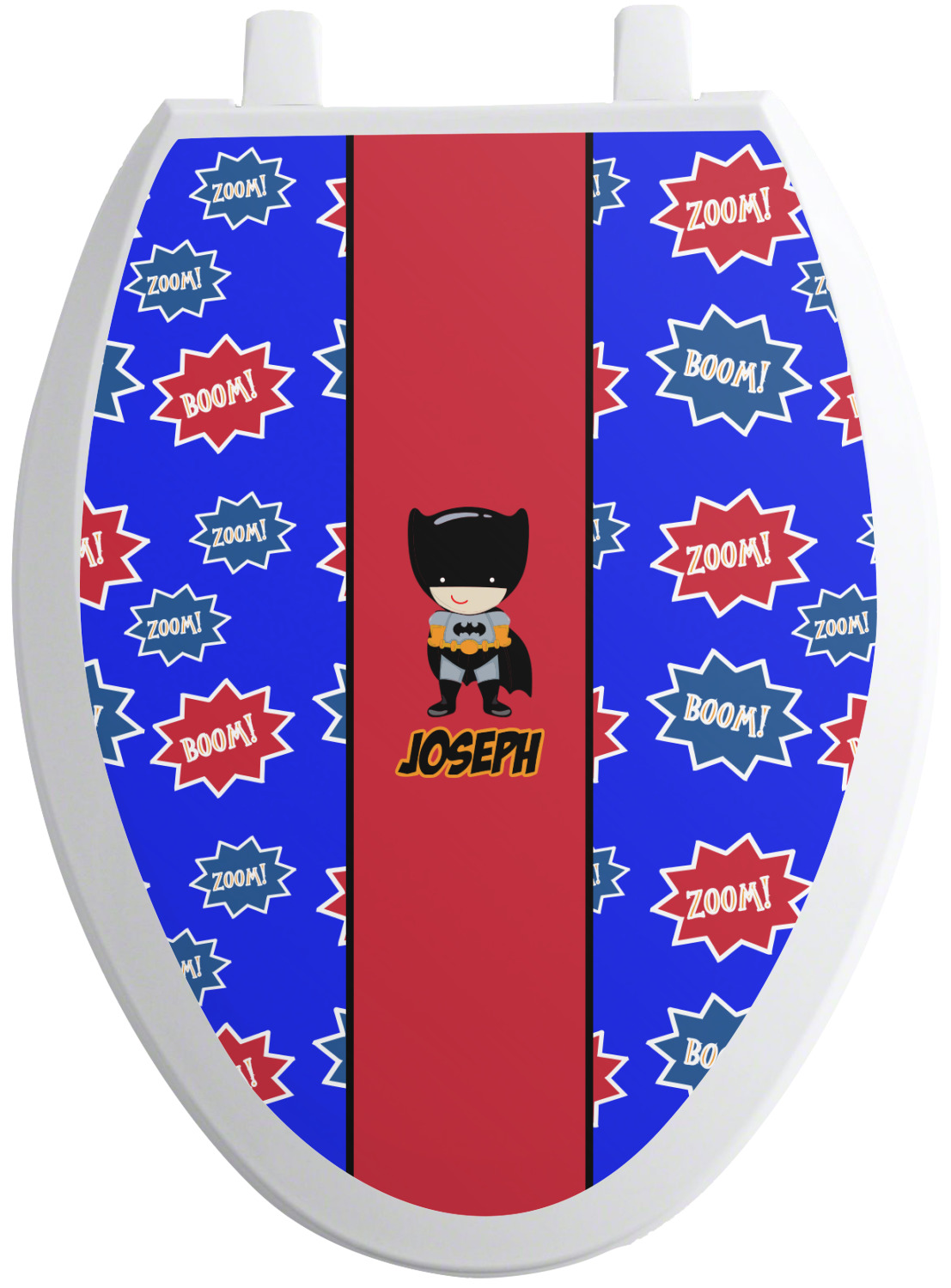 superhero toilet seat decal  personalized