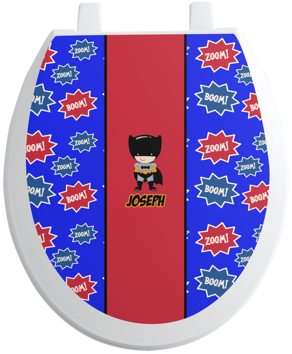 superhero toilet seat decal personalized youcustomizeit. Black Bedroom Furniture Sets. Home Design Ideas
