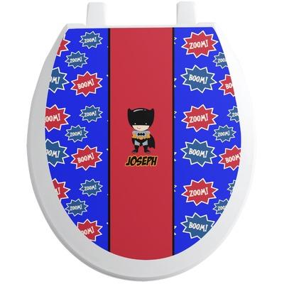 Superhero Toilet Seat Decal (Personalized)