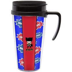 Superhero Travel Mug with Handle (Personalized)