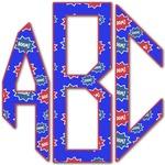 Superhero Monogram Decal - Custom Sized (Personalized)