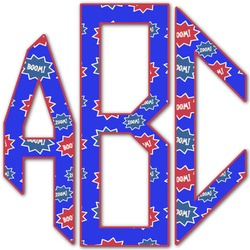 Superhero Monogram Decal - Custom Sized (Personalized)