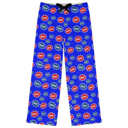 Superhero Womens Pajama Pants (Personalized)