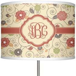 "Fall Flowers 13"" Drum Lamp Shade (Personalized)"