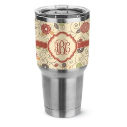 Fall Flowers Stainless Steel Tumbler - 30 oz (Personalized)