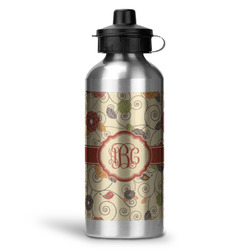 Fall Flowers Water Bottle - Aluminum - 20 oz (Personalized)