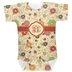 Fall Flowers Baby Bodysuit (Personalized)