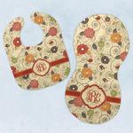 Fall Flowers Baby Bib & Burp Set w/ Monogram