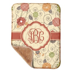 "Fall Flowers Sherpa Baby Blanket 30"" x 40"" (Personalized)"
