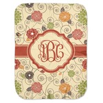 Fall Flowers Baby Swaddling Blanket (Personalized)