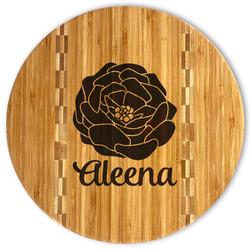 Fall Flowers Bamboo Cutting Board (Personalized)