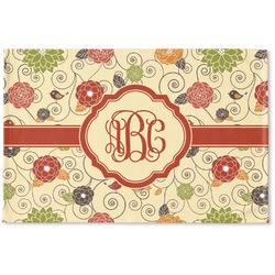 Fall Flowers Woven Mat (Personalized)