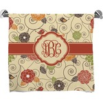 Fall Flowers Bath Towel (Personalized)