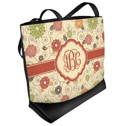 Fall Flowers Beach Tote Bag (Personalized)