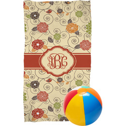 Fall Flowers Beach Towel (Personalized)