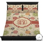 Fall Flowers Duvet Cover Set (Personalized)