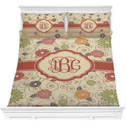 Fall Flowers Comforter Set (Personalized)