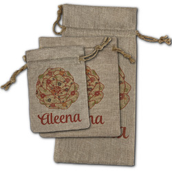 Fall Flowers Burlap Gift Bags (Personalized)