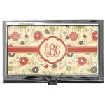 Fall Flowers Business Card Case