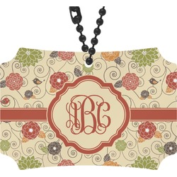 Fall Flowers Rear View Mirror Ornament (Personalized)