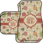 Fall Flowers Car Floor Mats (Personalized)
