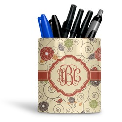 Fall Flowers Ceramic Pen Holder