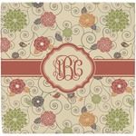 Fall Flowers Ceramic Tile Hot Pad (Personalized)