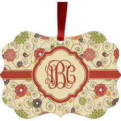 Fall Flowers Ornament (Personalized)