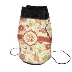 Fall Flowers Neoprene Drawstring Backpack (Personalized)